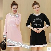 Pregnant women dress late to go out breastfeeding long-sleeved feeding month suits Slim long section