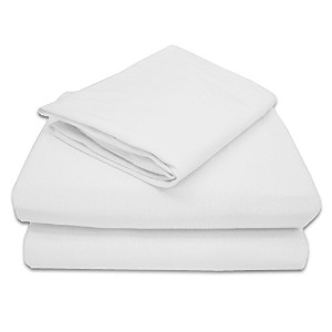 American Baby Company 100% Cotton Jersey Knit Toddler Sheet Set, White by American Baby Company