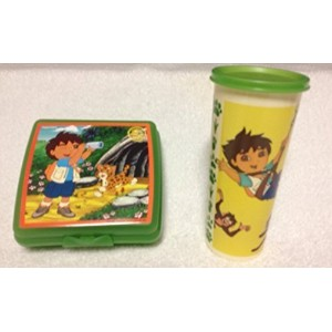 Tupperware Dora the Explorer Jungle Lunch Set in Green by Tupperware [並行輸入品]