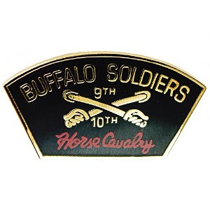 Buffalo Soldier 9日と10th Cavalry US Armyラペル帽子ピン