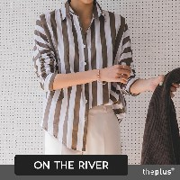 ★ontheriver★ NEW ITEM / Big Stripe Shirt / Korean Fashion / Plus size /