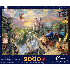 Disney(ディズニー)Beauty and the Beast ''Falling in Love'' Puzzle by Thomas Kinkade 美女と野獣パズル2000ピース ...
