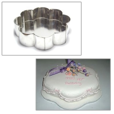 (25cm) - Single Petal Birthday Wedding Anniversary Cake Tin 25cm - by EURO TINS