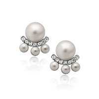 925 Sterling Silver Earrings, Earring Jackets Pearl Earrings, Ear Jacket Earrings Classic Cultured...