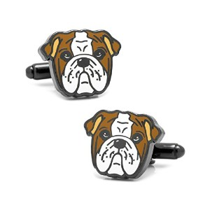 Athena Bulldog Cuff Links inギフトボックス