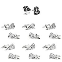 Super Hero Groom 's 7パックDarth Vader & Star Destroyer Cuff Links withギフトボックスbyスーパーヒーロー