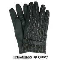 FREEWHEELERS フリーホイーラーズ LOADER 1930 - 1940s STYLE WORK GLOVES WASHABLE LEATHER × BEACH CLOTH