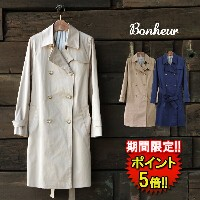【Bonheur】 TRENCH COAT (31020) Lady's 3colors □ 05P03Dec16 ※返品不可※