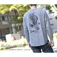 "【CALIFORNIA LINE/カリフォルニアライン】スウェット/ RAGLAN SLEEVE SWEAT ""EAGLE""★REALDEAL"