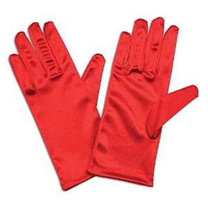 """Bristol Novelty Gloves. Satin 9"""" Red Costume Accessories - Womens - One Size"""