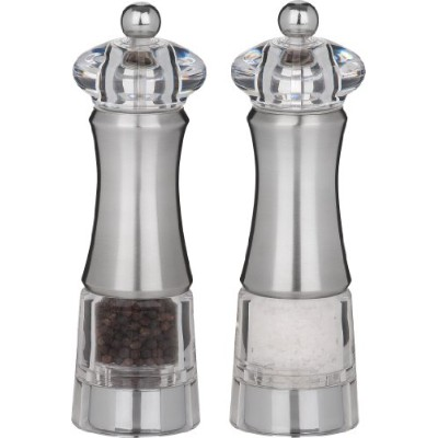 Trudeau Professional Acrylic/Stainless Steel Pepper and Salt Mill, 8-Inch by Trudeau [並行輸入品]
