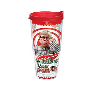 Tervis 1164002Tumbler withレッド蓋、24-ounce、クリスマスストーリーShoot Eyes