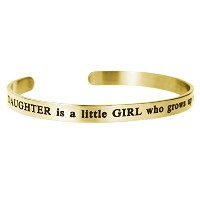 Qina C。A娘はA Little Girl Who Grows Up To Be A Friend Adjustable Cuffブレスレットリストバンドバングル
