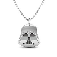 The Best Star Warsペンダントネックレス、925スターリングシルバー18インチネックレスwith Darth Vader Pendent