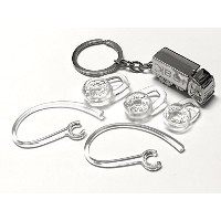 BSI SET 2 Earhooks (with metal wire) + 1 Small 1 Medium 1 Large Eargels Clear for Plantronics...