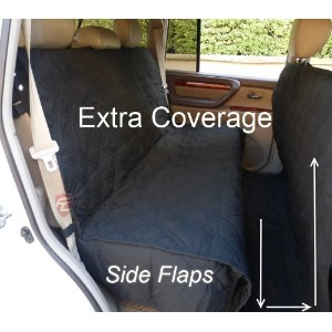 Deluxe Quilted and Padded seat cover with Non-Slip Fabric in Seat Area for Pets - One Size Fits All...