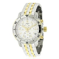 ティソ Tissot 腕時計 メンズ 時計 Tissot PRS 200 Two-Tone Chronograph Mens Watch T0674172203101