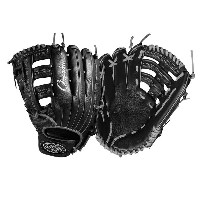 ルイスビルスラッガー メンズ 野球 グローブ【Louisville Slugger Omaha Single Post Web Fielding Glove】Black/Silver