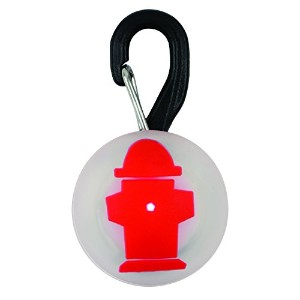 Nite Ize PetLit - Stylish LED Collar Light - Red Hydrant