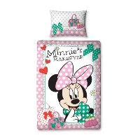 Character World 135 x 200 cm Disney Minnie Mouse Makeover Single Panel Duvet Set, Multi-Color by...