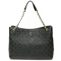 TORY BURCH トリーバーチ トートバッグ MARION QUILTED CENTER-ZIP TOTE BLACK ブラック 12169756 001 【楽ギフ_包装】【送料無料】