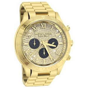 マイケルコース Michael Kors レディース 腕時計 時計 Michael Kors Layton Glitz Gold-tone Crystal Dial Ladies Watch...