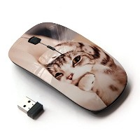 KOOLmouse [ ワイヤレスマウス 2.4Ghz 無線光学式マウス ] [ Kitten Shorthair Manx Sleepy Paw Cat ]