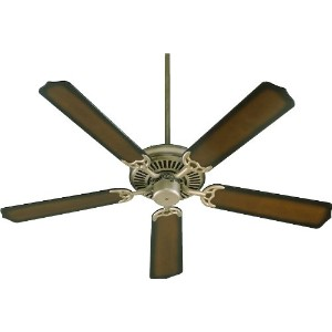 Quorum International 77525-22 Capri I 52-Inch Ceiling Fan, Antique Flemish Finish with Reversible...