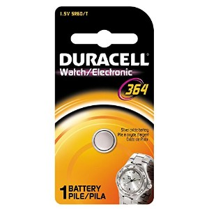 Duracell Watch And電子バッテリー1.5V酸化シルバーモデルno 364CARDED