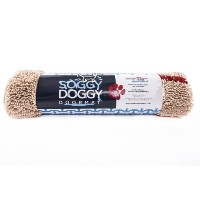 Soggy Doggy Doormat, Beige with Red Bone 36-Inch by 60-Inch, Extra Large by Soggy Doggy Productions