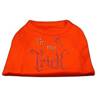 I'm the Trick Rhinestone Dog Shirt Orange Lg (14)