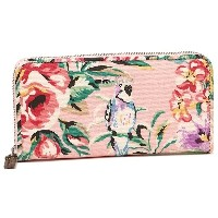 キャスキッドソン 財布 CATH KIDSTON 667913 CONTINENTAL ZIP WALLET TROPICAL GARDEN レディース 長財布 DUSTY PINK