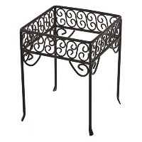 American Metalcraft (PSS77) Single-Shelf Black Square Scroll Contempo Pizza Stand by American...