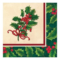 Creative Converting 31716616Count用紙のランチナプキン、Boughs Holly