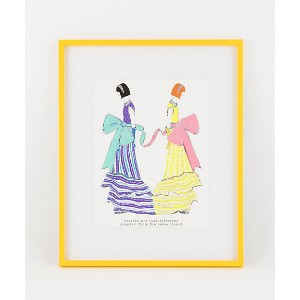 sisters are just different dresses from the same closet(blue & yellow) 【三越・伊勢丹/公式】 アート~~絵画~~その他