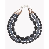 【Theory】Kong qi Color Stone Necklace ブルーストーンを用いた清涼感のあるテクスチャーが魅力の三連ネックレス。 その他 大人 セオリー