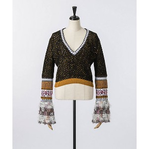 mame/マメ  Ethnic Blend Knit V-neck Sweater(MM17AW-KN070) マルチ 【三越・伊勢丹/公式】 レディースウエア~~セーター