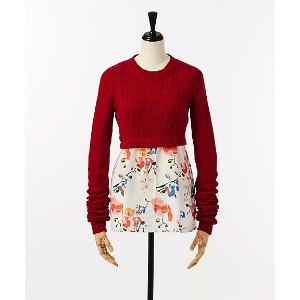 CLAUDIA LI  Exclusive Sweater Layered Top(ONLY/CL-ISETAN3-A) RED/WHT.F 【三越・伊勢丹/公式】 レディースウエア~~セーター