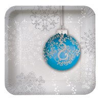Creative Converting 8 Count Jingle Bells Square Paper Dessert Plates