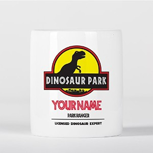 Customized T-Rex Dinosaur Park Ranger Expert Children Kids Personalised 貯金箱