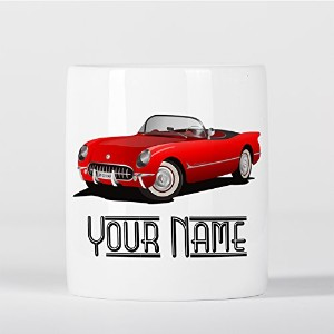 Customized Vintage Car Red Cabriolet Children Kids Personalised 貯金箱