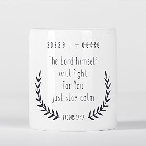 The Lord Himself Will Fight Stay Calm Bible Verse Exodus Moses Old Testament 貯金箱