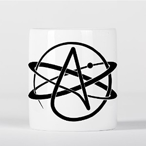 Atheist Symbol Atomic Whirl Atheism Rutherford Atom with Circle 貯金箱