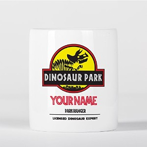Customized Triceratops Dinosaur Park Ranger Expert Children Kids Personalised 貯金箱