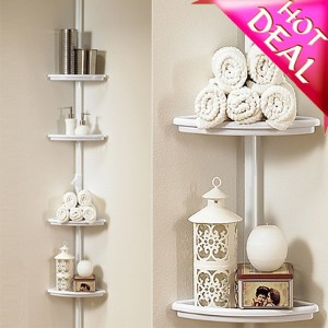 2016 NEW ★Shower Caddy / Corner Caddy / Shelf Towel Bar - Non-Permanent / Removable / No Wall...