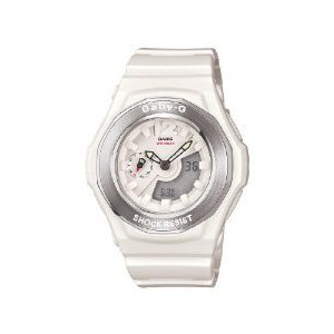 Casio BGA140-7B Women's Baby-G Ana-Digi White Resin Alarm World Timer Multifunctional Watch【並行輸入】