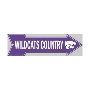 Kansas State Wildcats Metal Arrow Sign * SALE *
