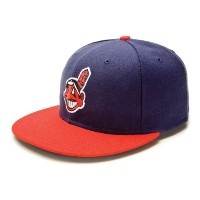 Cleveland Indians 59 Fifty Authentic FittedパフォーマンスホームMLB野球キャップ