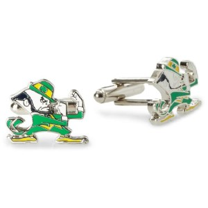 NCAA Notre Dame Fighting Irish Leprechaun Cufflinks