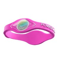 POWER BALANCE(パワーバランス) SILICONE WRISTBAND Pink/ White M 【日本正規品】